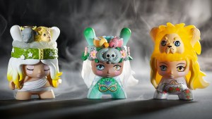 Camilla d'Errico's pieces for Arcane Divination: The Lost Cards Dunny Series from Kidrobot