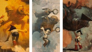 Ashley Wood's Paintings of Astro Boy