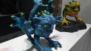 Tim Clarke's Boglin Blue Shiva at Clutter Gallery's Boglins Custom Toy Show exhibition