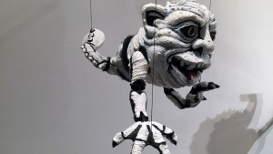 Tim Clarke's Bog O Bones Marionette at Clutter Gallery's Boglins Custom Toy Show exhibition