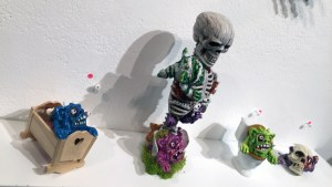 Tim Clarke's Resin Mini Boglin series at Clutter Gallery's Boglins Custom Toy Show exhibition