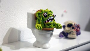 Tim Clarke's Oh Crap! It's Another Mini at Clutter Gallery's Boglins Custom Toy Show exhibition
