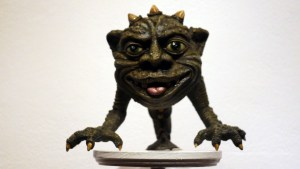 Squink's 16 Migraines at Clutter Gallery's Boglins Custom Toy Show exhibition