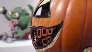Tim Clarke's Blobkin Pumpkin at Clutter Gallery's Boglins Custom Toy Show exhibition