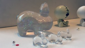 RWK's Cluttered Group Exhibition - Task One's Crystal Ball Labbit Family