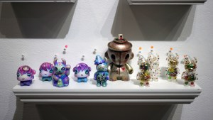 Jememiah Ketner's works, Czee13's Follow Your Art, and UAMOU's Xmas Dot Uamou & Boo from Gift Wrapped 2016 at The Clutter Gallery