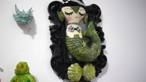Misfit Menagerie's Mermaid from Gift Wrapped 2016 at The Clutter Gallery