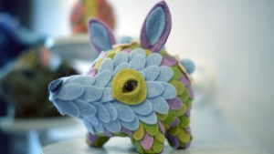 Stitched 2 Exhibition - Horrible Adorables' Pufferhedge in Bloom