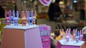Window Display at Peter Kato's Sugar Rush Bedtime Bunnies Release Event at PIQ Grand Central