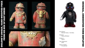 DrilOne's Box of Rust custom blind boxed series, Jeremy Whitaker's Fire Robo