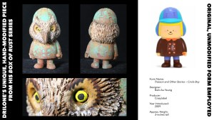 DrilOne's Box of Rust custom blind boxed series, Bubi Au Yeung's Treeson: Circle Boy