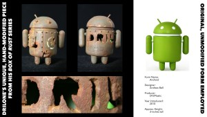 DrilOne's Box of Rust custom blind boxed series, Andrew Bell's Google Android