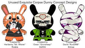 Unused Exquisite Corpse Dunny Concept Submissions - Mr. Mitote, Grimsheep & RunDMB