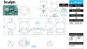 Kidrobot's Exquisite Corpse Dunny Blank Template