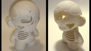 "Gregory Lee / GregLovesToast's Custom 7"" Munny Skull (Cutaway)"