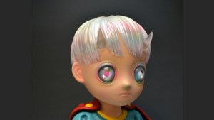 Hikari Shimoda's Children of This Planet sculpture from APPortfolio, quarter turn right (detail)