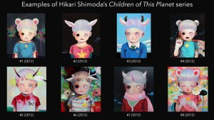 Hikari Shimoda's examples of Children of This Planet painting series, 2012