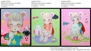Hikari Shimoda's untitled pieces from Niji Bambini, 2014