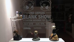 Huck Gee's Blank Show 2 - Window display (outside)