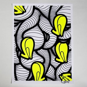 INSA's Heels (Graffiti Fetish) screenprint - San Francisco (Neon) Yellow