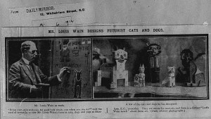 Daily Mirror newspaper clipping about Louis Wain's Futurist Cats & Dogs
