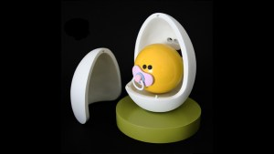 Jason Freeny's Egg Head & Yolkel Sculpture