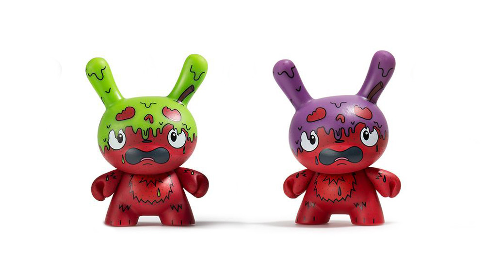 The Bots' Scared Silly Dunny Series from Kidrobot, G.M.D. (regular & variant), 2017