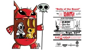 JLed's Belly of the Beast exhibition at Kidrobot LA, 2005