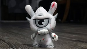 Spanky Stokes' Stroll Dunny (Blood) for Kidrobot's Wild Ones series