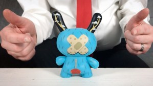 Johnny Draco's Mr. Watt Dunny from Kidrobot, back side