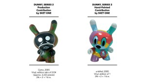 Kidrobot's Dunny Series 2 - Sket One's Production & Hand-Painted Pieces