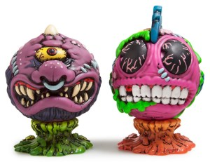 Madballs All-Star Art Jam and Exhibition - Kidrobot's Madballs Medium Vinyl Figures, Horn Head and Bot Head
