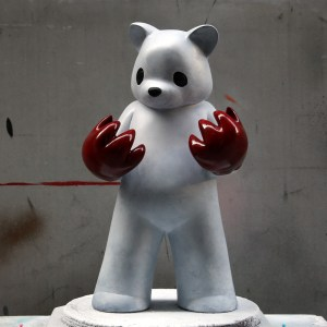 Luke Chueh's Blood On My Hands - Red Handed (White & Red Custom)