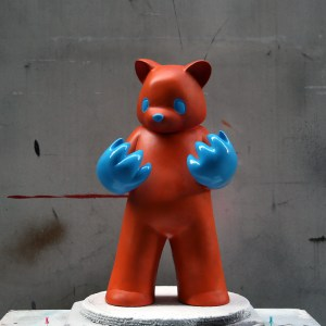 Luke Chueh's Blood On My Hands - Red Handed (Orange & Blue Custom)