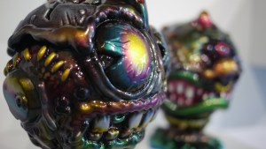 Madballs All-Star Art Jam and Exhibition - Mark Nagata's Metallic Madballs #1