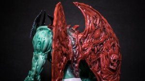 Mike Sutfin's Devilman figure from Unbox Industries, back & wing detail