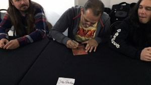 John Cebollero signing at Hyperstoic Returns