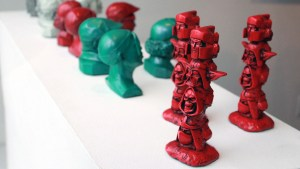 RYCA's Mini Totems at the Futuretro exhibition