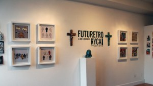 RYCA's display overview at the Futuretro exhibition
