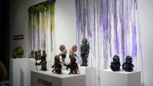Retroband, Miscreation Toys & Violence Toy's Vinylploitation exhibition - partial overview