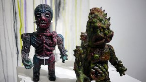 Violence Toy's Death Car Exterminator - Charred Remains at Clutter Gallery's Vinylploitation exhibition