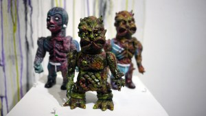 Violence Toy's Timegore - Zombiethon at Clutter Gallery's Vinylploitation exhibition