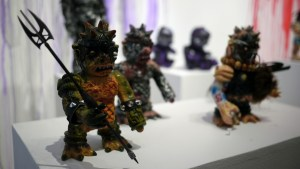 Violence Toy's Trollborg - Frogtown Warrior at Clutter Gallery's Vinylploitation exhibition