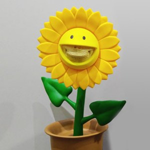 Ron English's Growing Grins - Sun Flower Sculptures