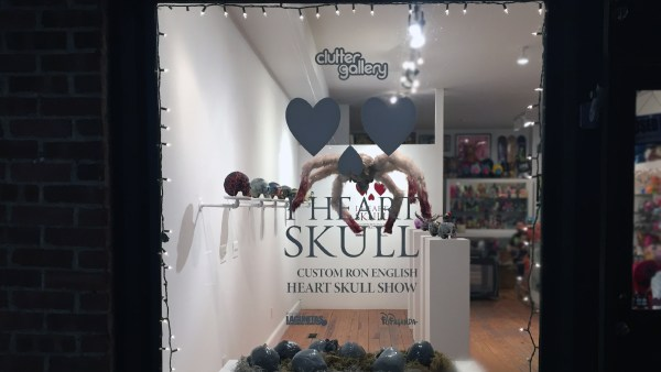 Clutter Magazine Gallery's I Heart Skull Exhibition - Window Display