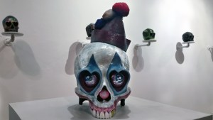 Grizlli Atom's Pogo (Custom Ron English Heart Skull)