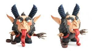 Scott Tolleson & SeriouslySillyK's KRampus Dunny from Clutter Magazine Gallery's DTA Dunny Show at NYCC 2016