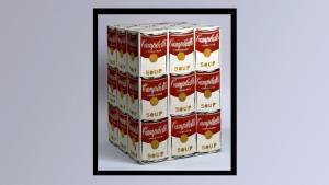Andy Warhol's Campbell's Soup Box sculpture, 1962