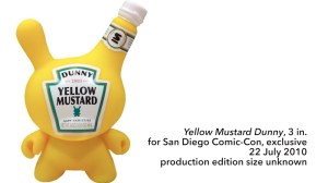 """Sket One Dunny - Yellow Mustard 3"""" Dunny, SDCC exclusive, 2010"""