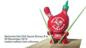 "Sket One Dunny - Sketracha Hot Chili Sauce 8"" Dunny, custom, 2012"